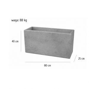 80x25x40sklep 300x300 - Bloczek ogrodzeniowy 80x25x40 Beton architektoniczny SLABB