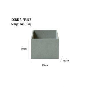 Felice sklep 1 300x300 - Donica betonowa ogrodowa Felice 120x120x120 Beton architektoniczny