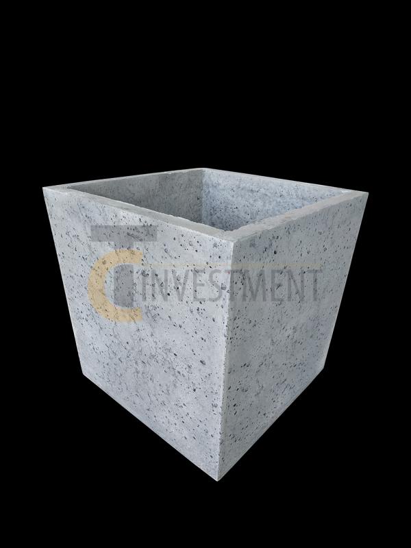 Donica 45x45x45 szara 1 copy 600x800 - Donica betonowa ogrodowa 45x45x45 Beton architektoniczny