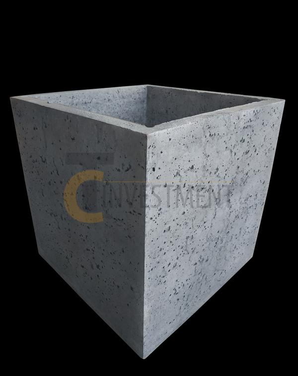 Donica 45x45x45 szara 2 copy 600x758 - Donica betonowa ogrodowa 45x45x45 Beton architektoniczny