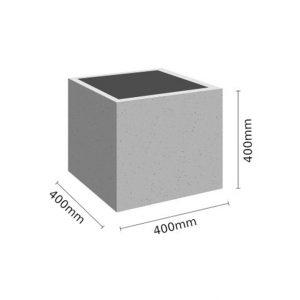 Wymiar Donica 40x40x40 sklep 300x300 - Donica betonowa ogrodowa 40x40x40 Beton architektoniczny