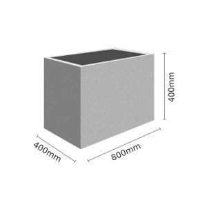 Wymiar Donica 80x40x40 sklep 300x300 - Donica betonowa ogrodowa 80x40x40 Beton architektoniczny