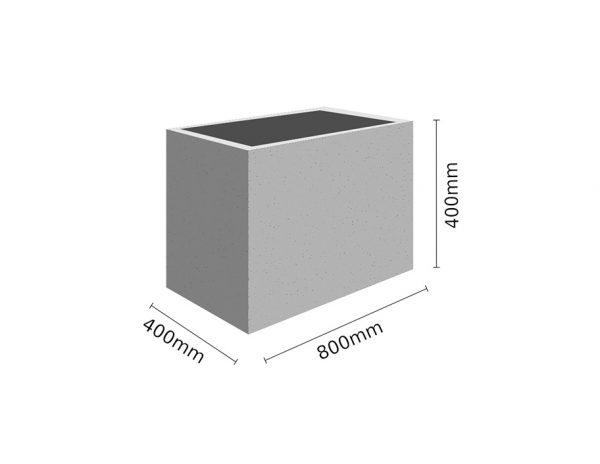 Wymiar Donica 80x40x40 sklep 600x464 - Donica betonowa ogrodowa 80x40x40 Beton architektoniczny
