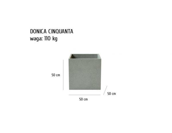 CINQUANTA sklep 600x464 - Donica betonowa ogrodowa Cinquanta 50x50x50 Beton architektoniczny