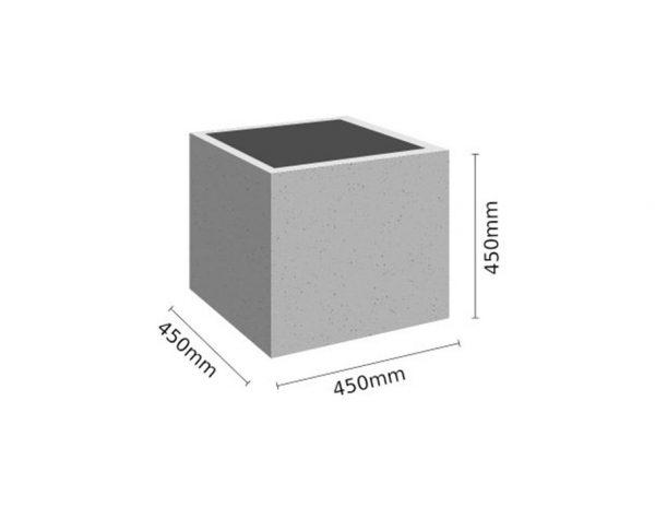 Wymiar Donica 45x45x45 sklep 600x464 - Donica betonowa ogrodowa 45x45x45 Beton architektoniczny