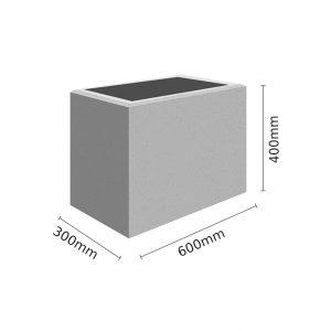 Wymiar Donica 60x30x40 sklep 300x300 - Donica betonowa ogrodowa 60x30x40 Beton architektoniczny