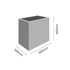 Wymiar Donica 60x30x60 sklep 300x300 - Donica betonowa ogrodowa 60x30x60 Beton architektoniczny