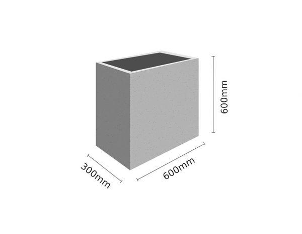 Wymiar Donica 60x30x60 sklep 600x464 - Donica betonowa ogrodowa 60x30x60 Beton architektoniczny