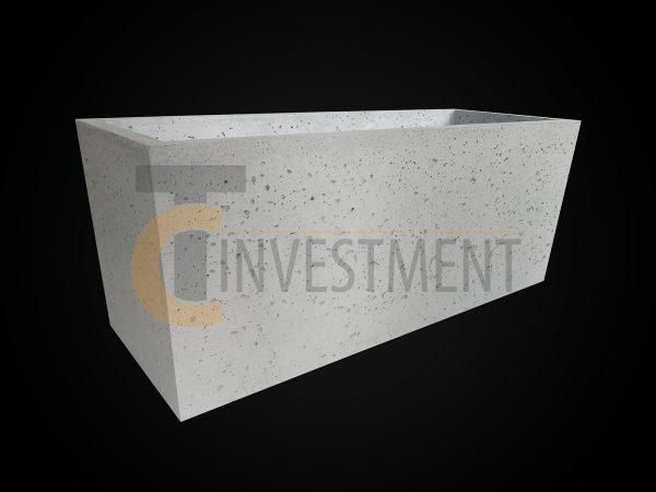 Donica 100x37x40 3 600x450 - Donica betonowa ogrodowa 100x37x40 Beton architektoniczny