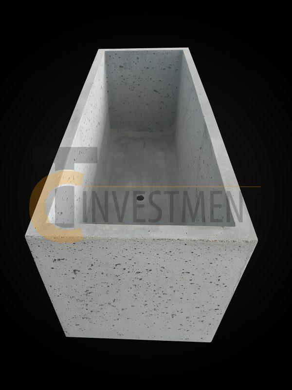 Donica 100x37x40 4 600x800 - Donica betonowa ogrodowa 100x37x40 Beton architektoniczny