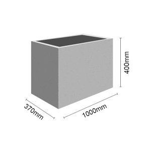 Wymiar Donica100x37x40 sklep 300x300 - Donica betonowa ogrodowa 100x37x40 Beton architektoniczny