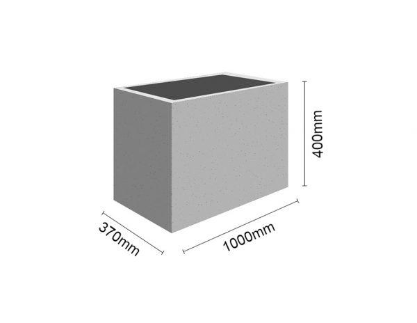 Wymiar Donica100x37x40 sklep 600x464 - Donica betonowa ogrodowa 100x37x40 Beton architektoniczny